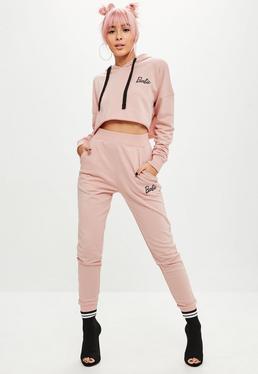 Barbie x Missguided Pantalón de chándal en rosa