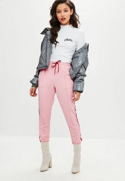 Pink Double Side Stripe Joggers