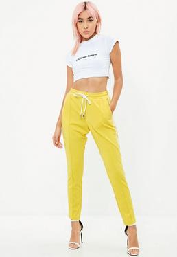 Yellow Double Side Stripe Joggers