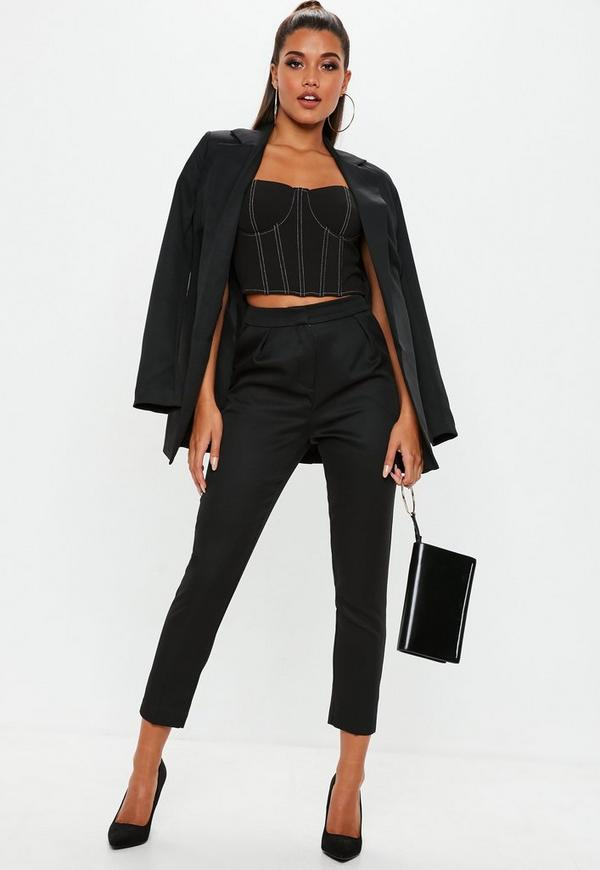 Black Cigarette Trousers by Missguided