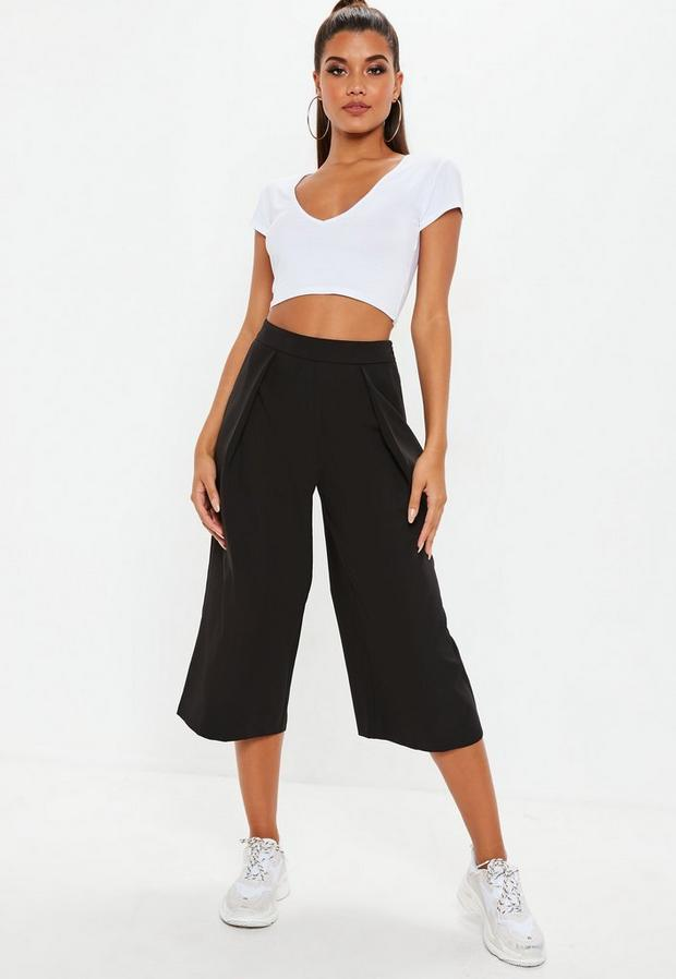 Missguided - Pleated Front Culottes - 3
