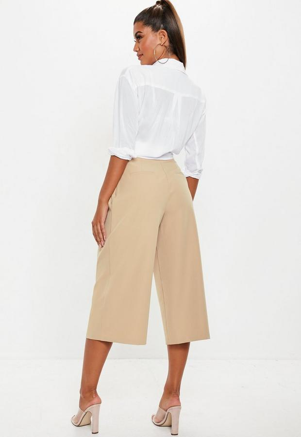 Missguided - Pleat Front Culotte Trousers - 2