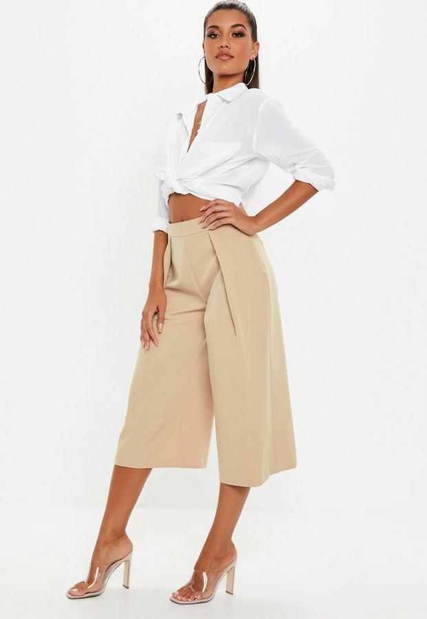 Missguided - Pleat Front Culotte Trousers - 4
