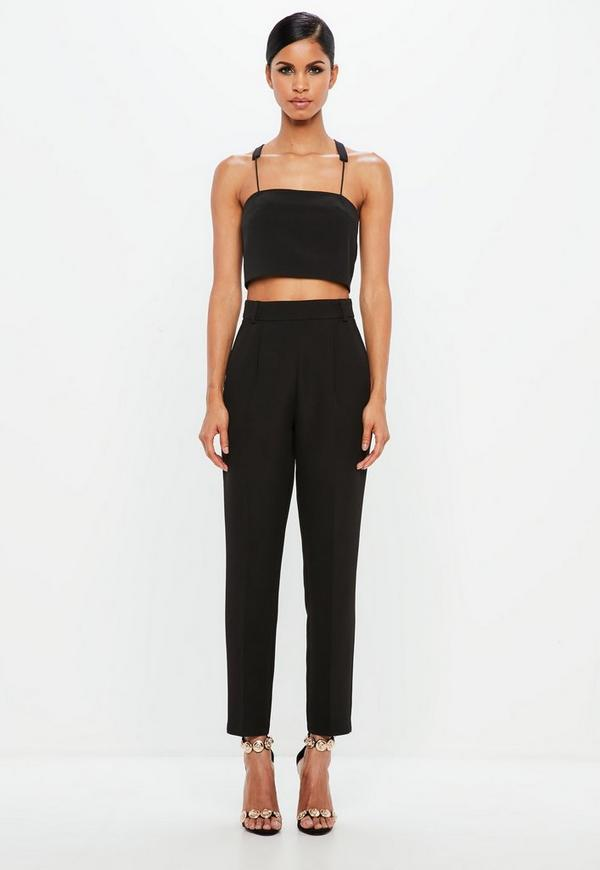 Peace + Love Black Tapered Pants by Missguided