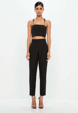 Peace + Love Black Tapered Pants