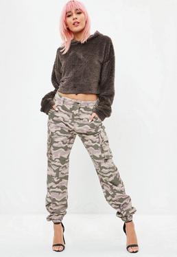 Pantalón premium de estampado camuflaje en nude