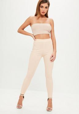 Nude Bandage Slim Fit Trousers