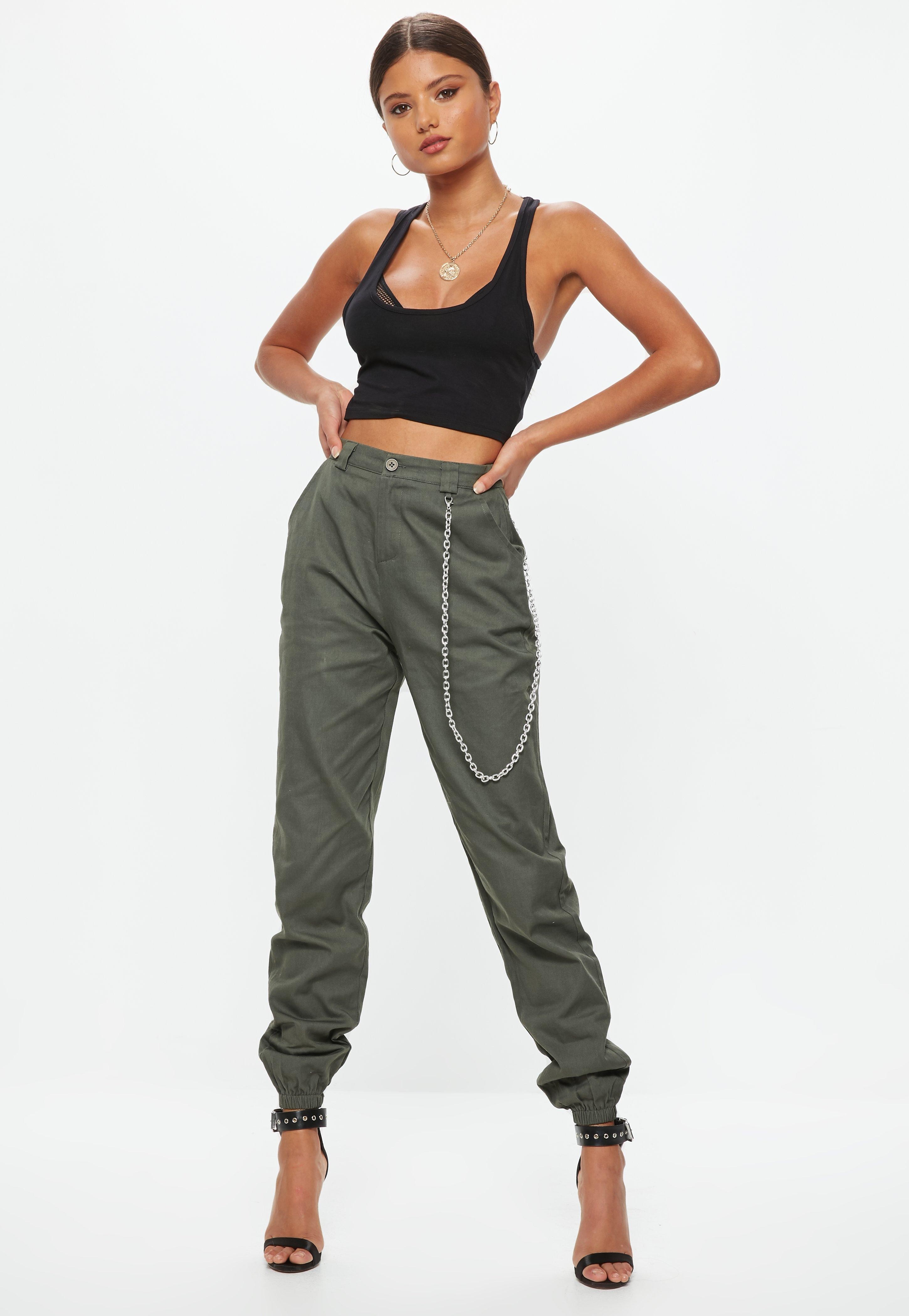 Missguided High Waist Tie Cargo Trousers Latest Collections Cheap Price Outlet For Sale Clearance Top Quality Clearance Best JUAur