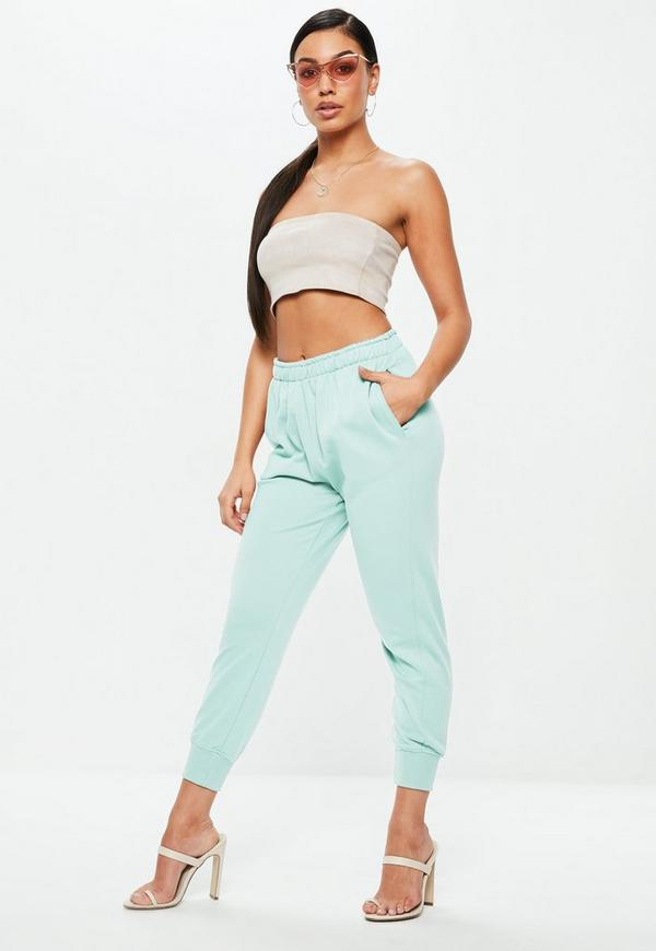 Mint Green Twisted Seam Clean Joggers by Missguided