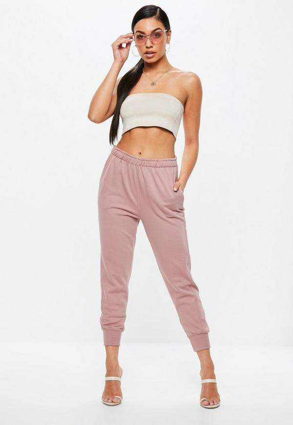 Pink Twisted Seam Clean Joggers by Missguided