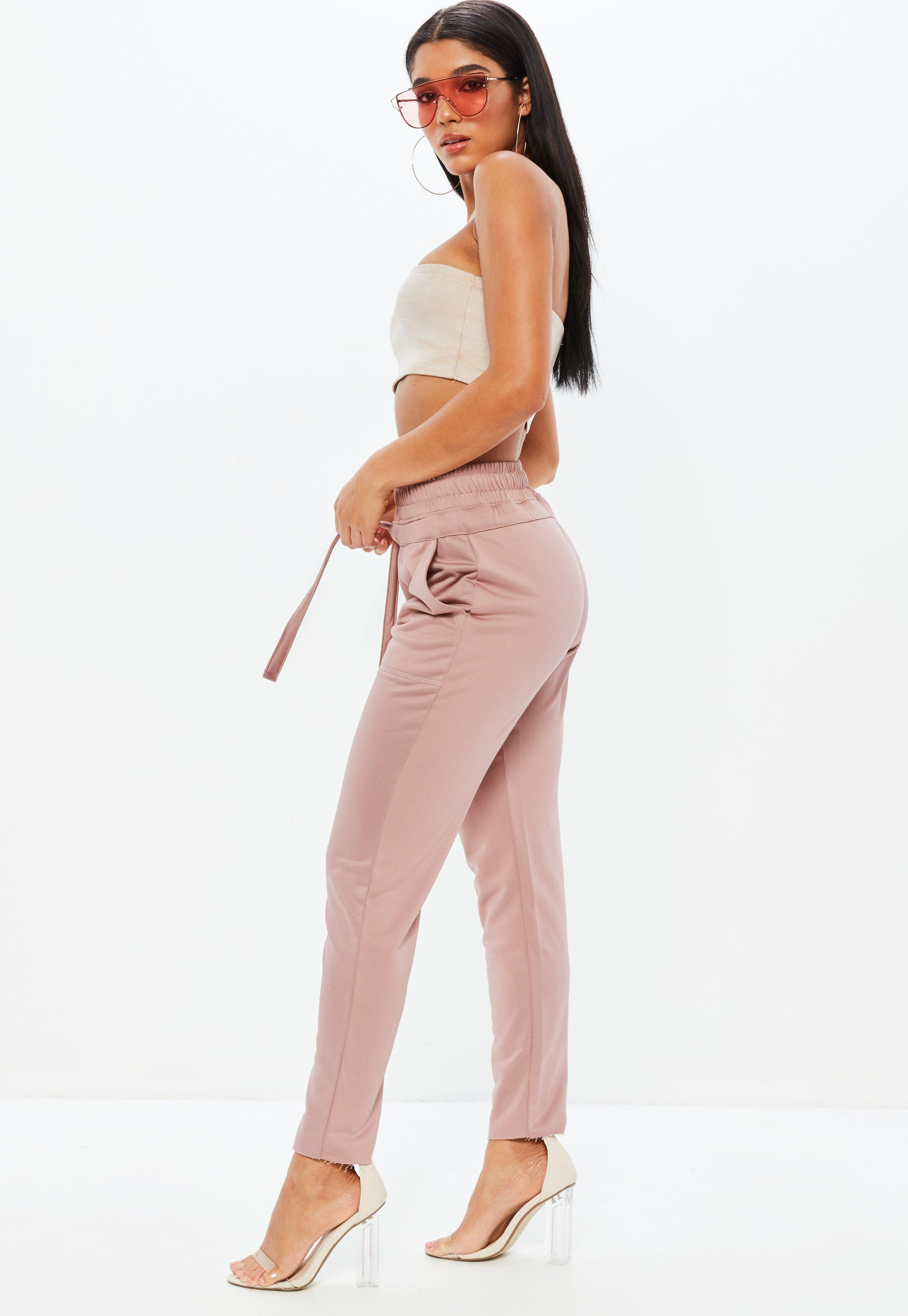 Missguided Rose Low Slung Joggers Free Shipping For Sale Buy Cheap Very Cheap 2018 Online Best Prices Cheap Price Countdown Package Cheap Price cQoo1eC