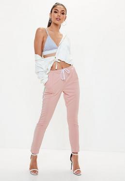 Pink Double Side Stripe Joggers