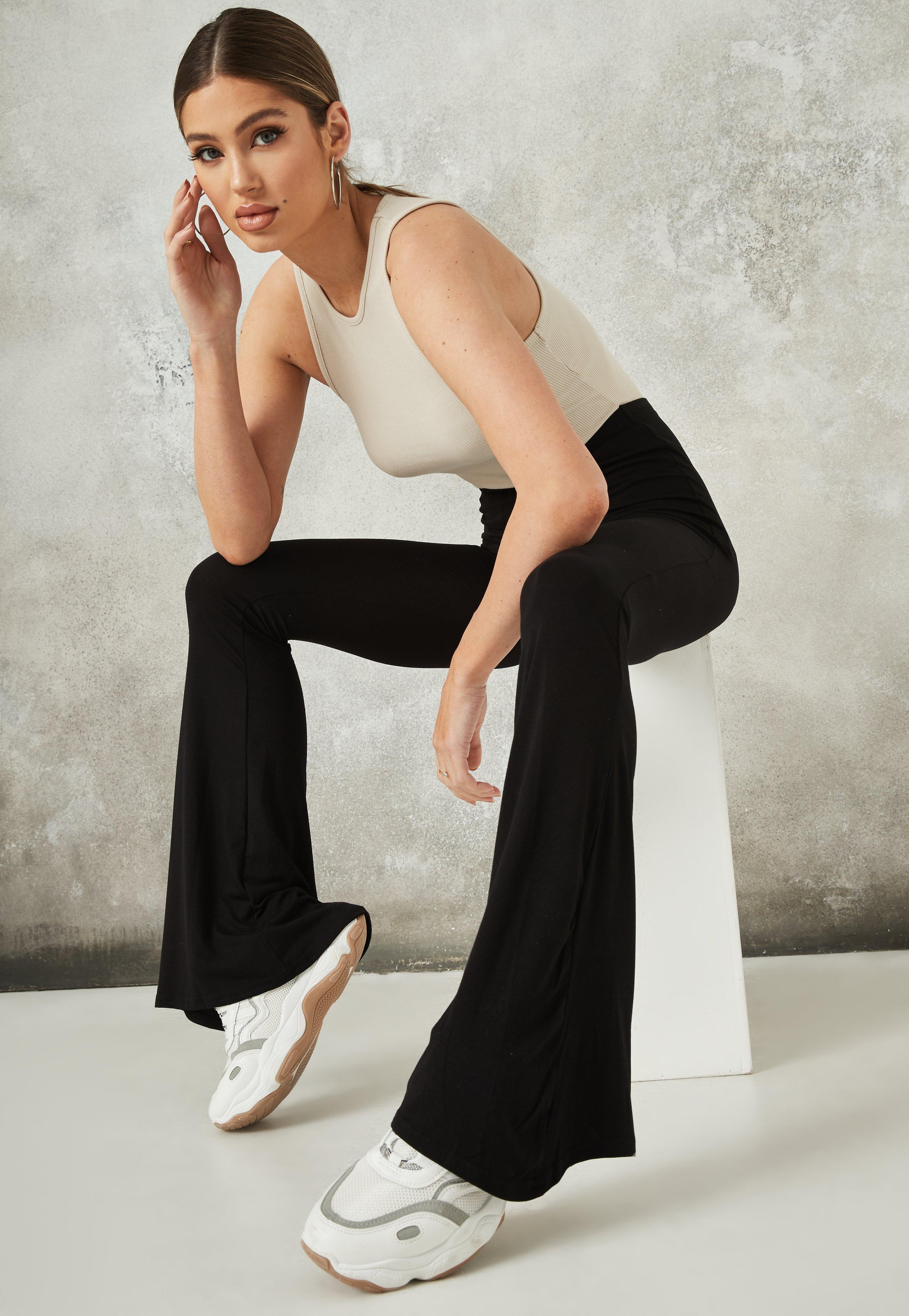 Flare Pantalon Jersey Noir En Missguided P7qrdqYw