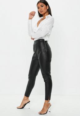 Milf in leather coset heels