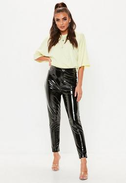 Black Vinyl Trousers 6785fb47e