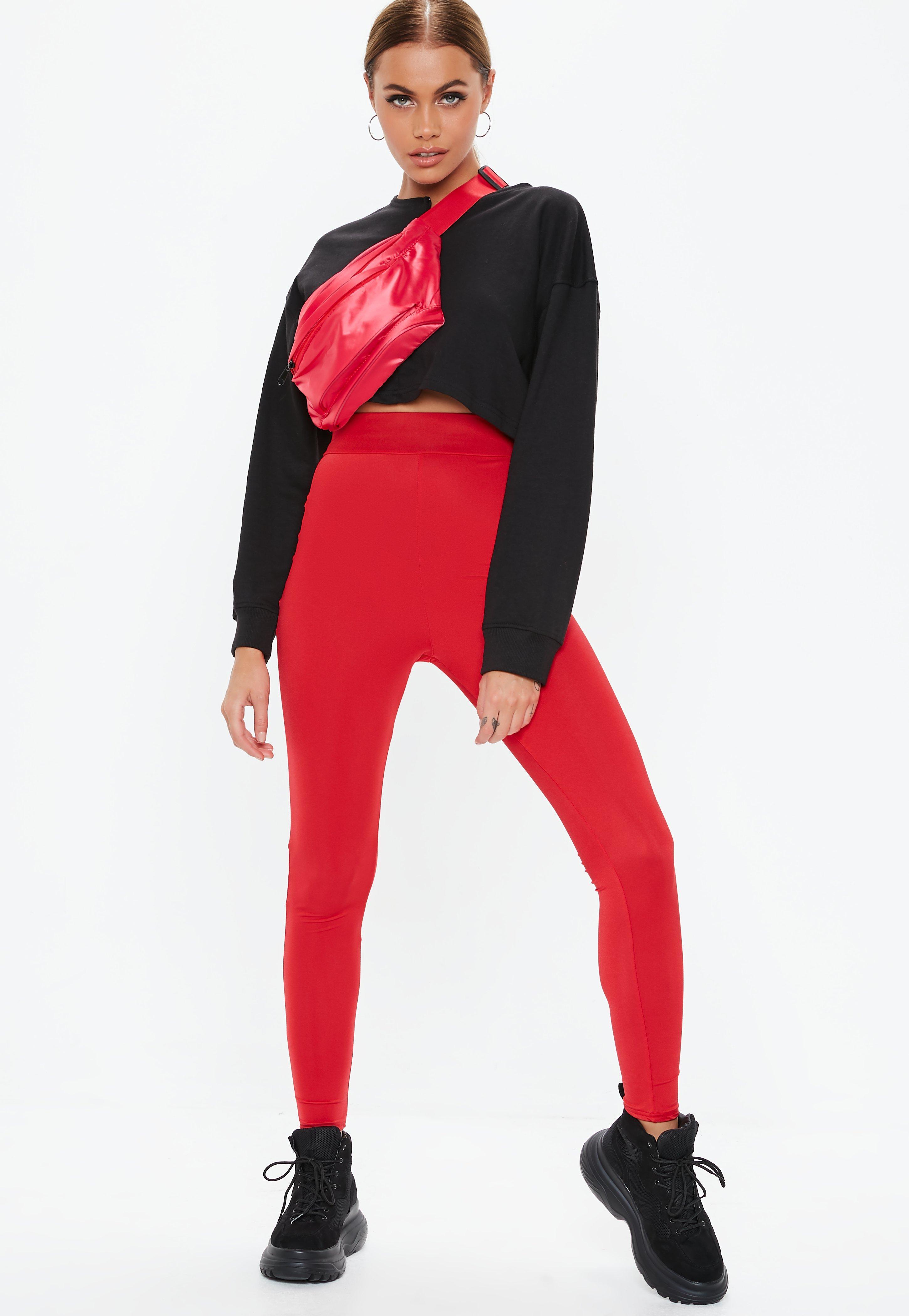 532f1c75b7aed6 Red Disco Leggings | Missguided Australia