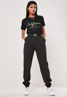 7d9d696ace90 ... Black Stripe Cargo Pants