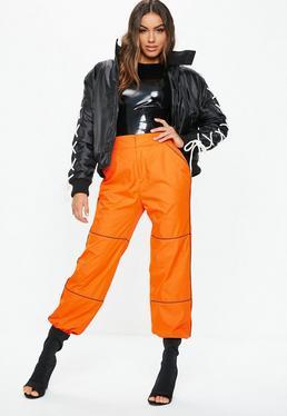 a8f8a4e59f255 Pantalon orange réfléchissant Fanny Lyckman X Missguided