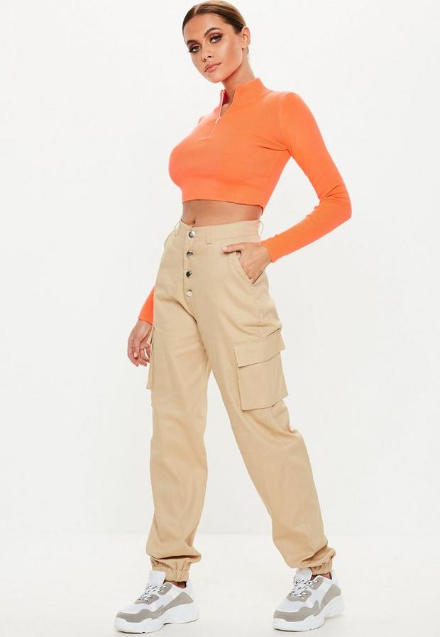 Missguided - Multi Button Cargo Trousers - 1
