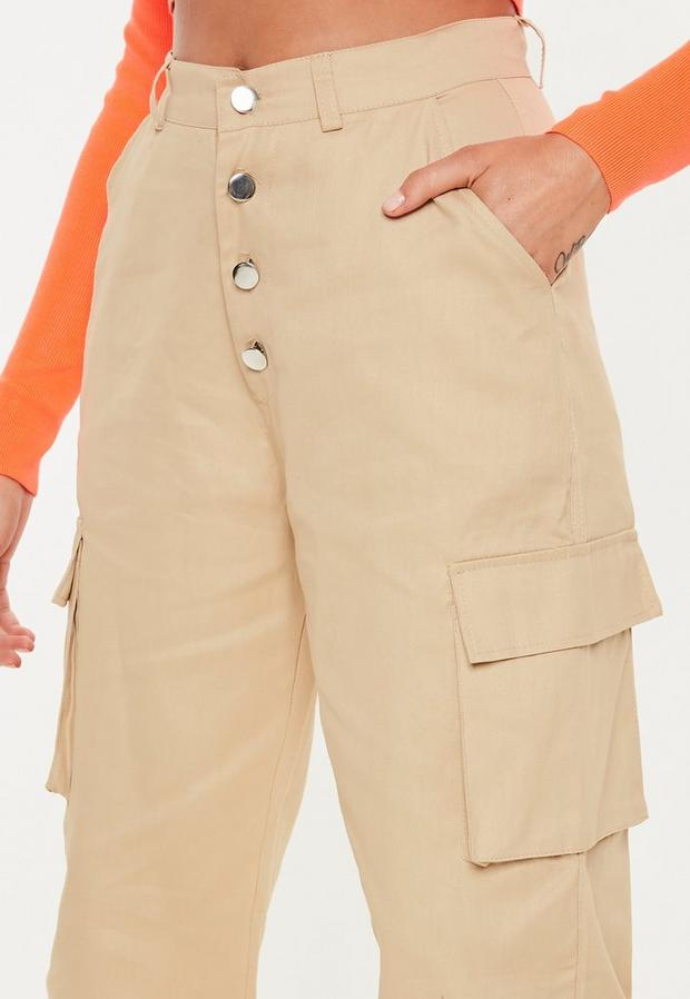 Missguided - Multi Button Cargo Trousers - 3
