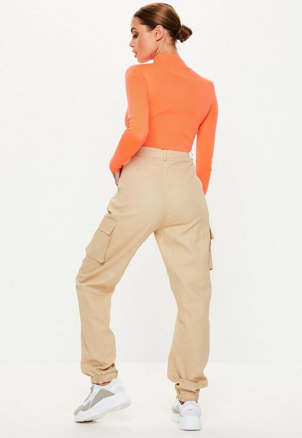 Missguided - Multi Button Cargo Trousers - 4