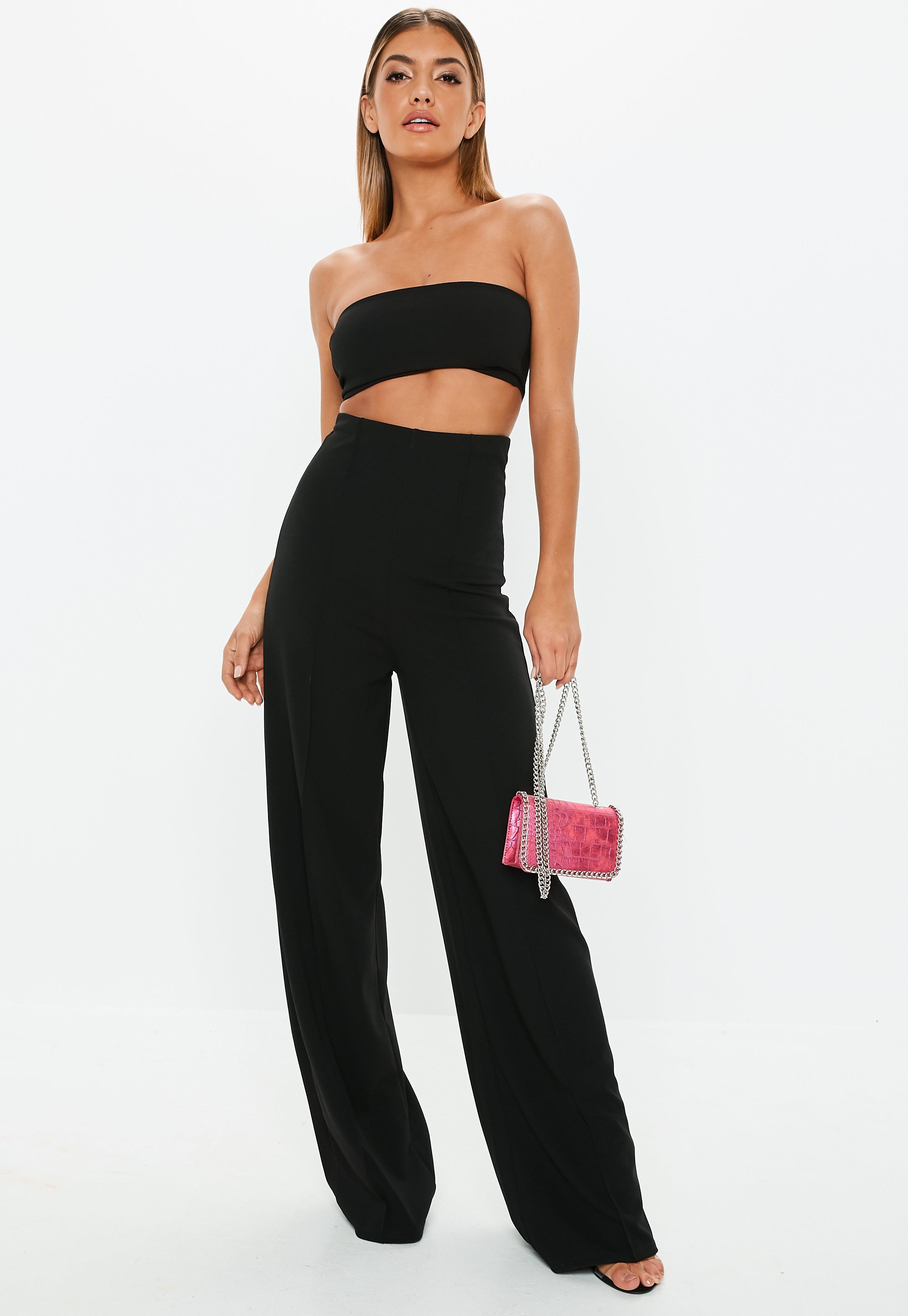 Wide Leg Pants- Palazzo   Loose Fit Pants Online   Missguided c59be37cd2c2