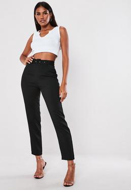 b87a60586 Black Slim Fit Trousers