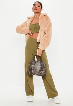 8673c43996030 Pantalon large - Achat pantalon fluide pour femme - Missguided