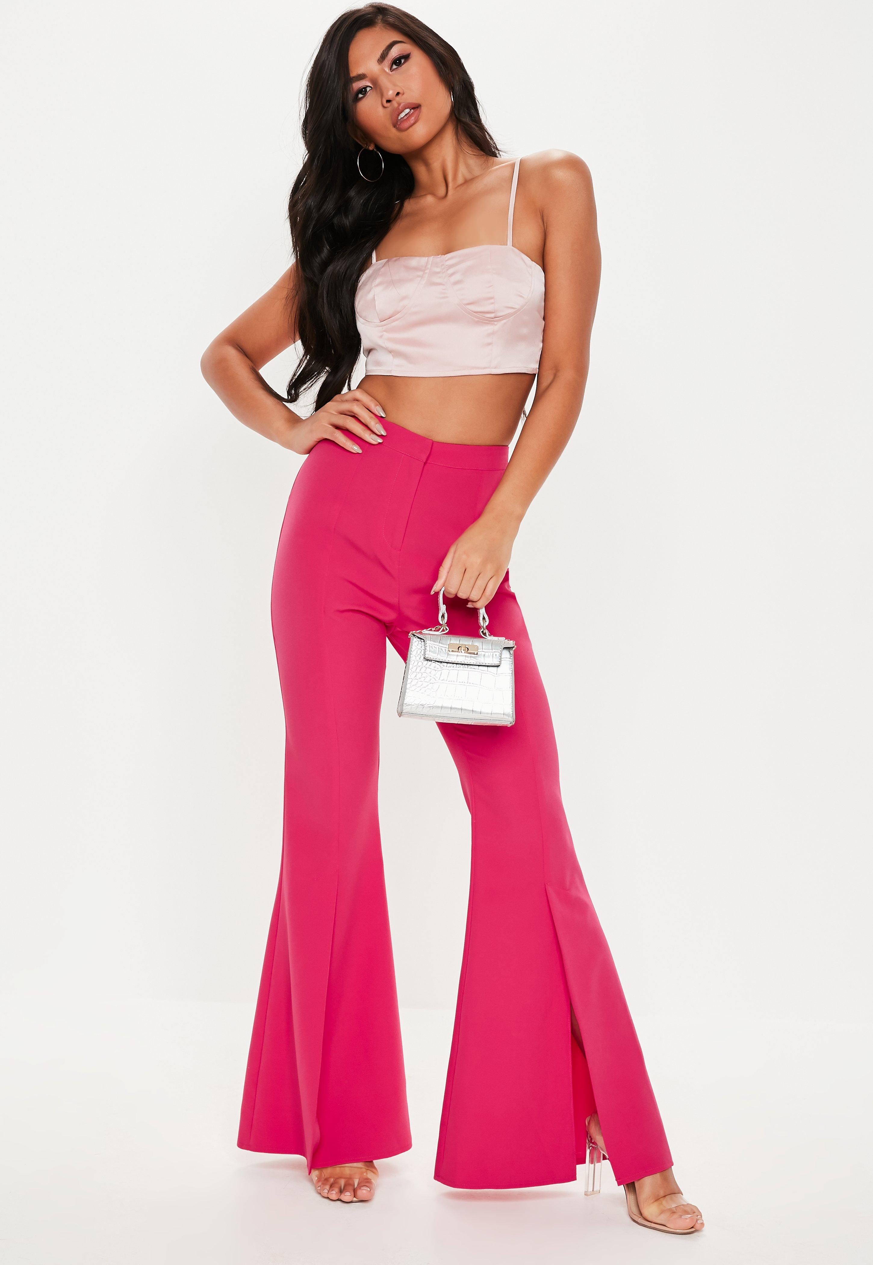 8bb488614ed9e Flare Pants - Women's Boho Flare & Ruffle Pants   Missguided