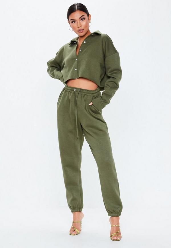 Khaki Oversized 90s Joggers by Missguided