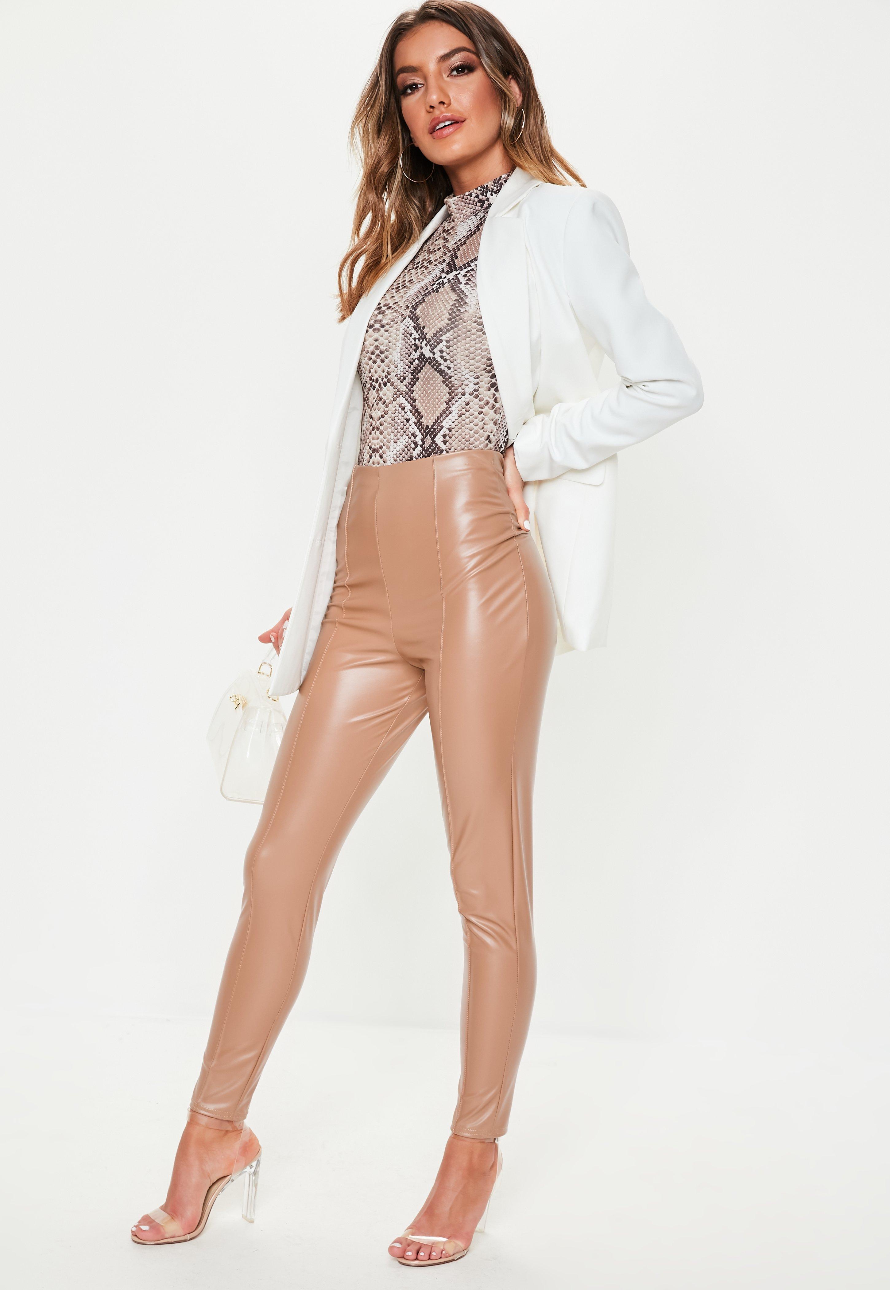 baa56d7f03f6e Leggings | Black, Wet Look & Leather Leggings - Missguided IE