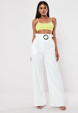 499acc915195e9 White Trousers | Women's White Trousers Online - Missguided
