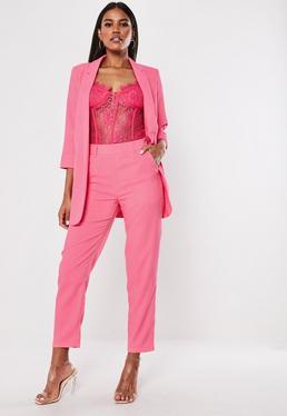 Сигаретные брюки Pink Co Ord