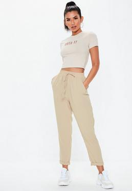 86af00a9062 Stone Tie Waist Trousers