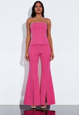 Расклешенные передние расклешенные брюки Peace + Love Pink