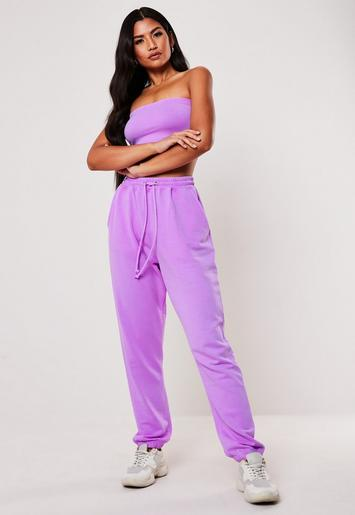 Purple Co Ord Washed 90's Joggers by Missguided