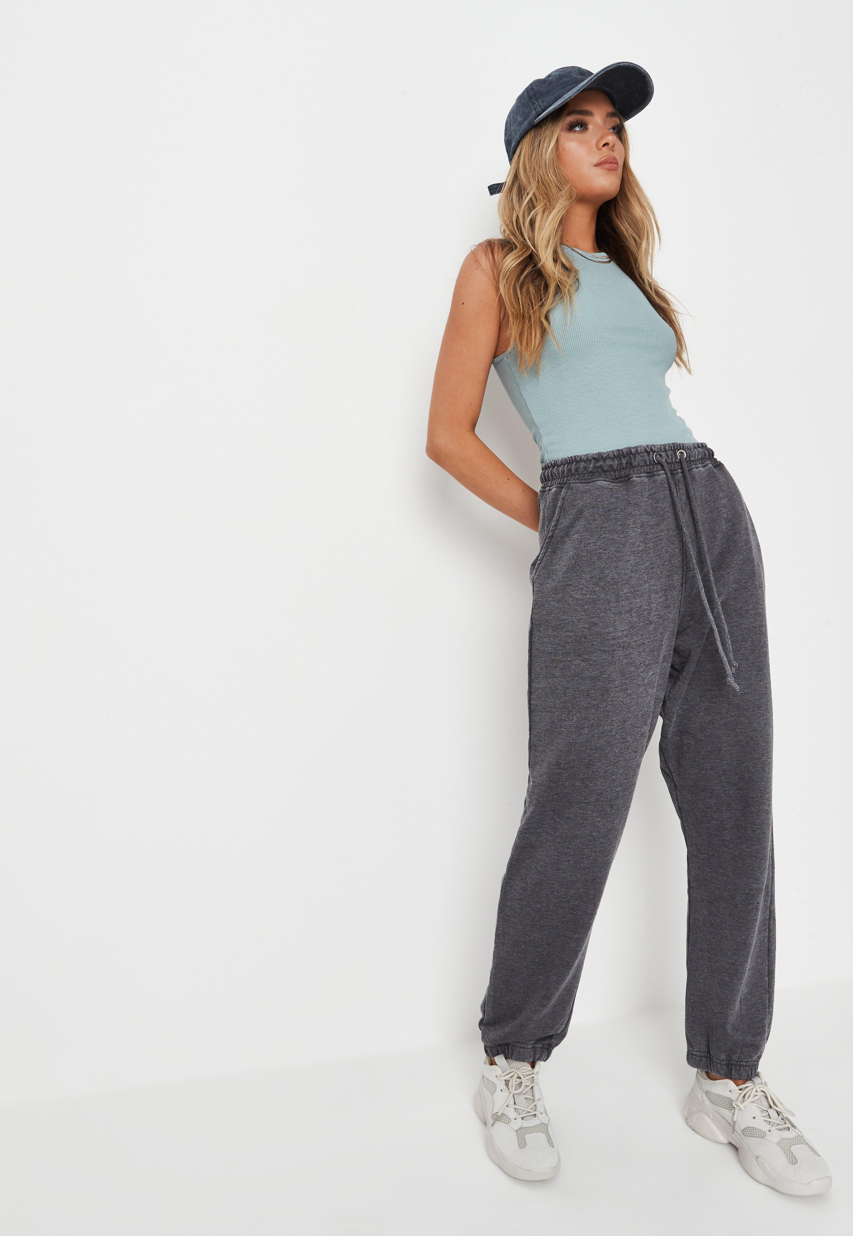 Grey Washed Co Ord 90's Joggers by Missguided