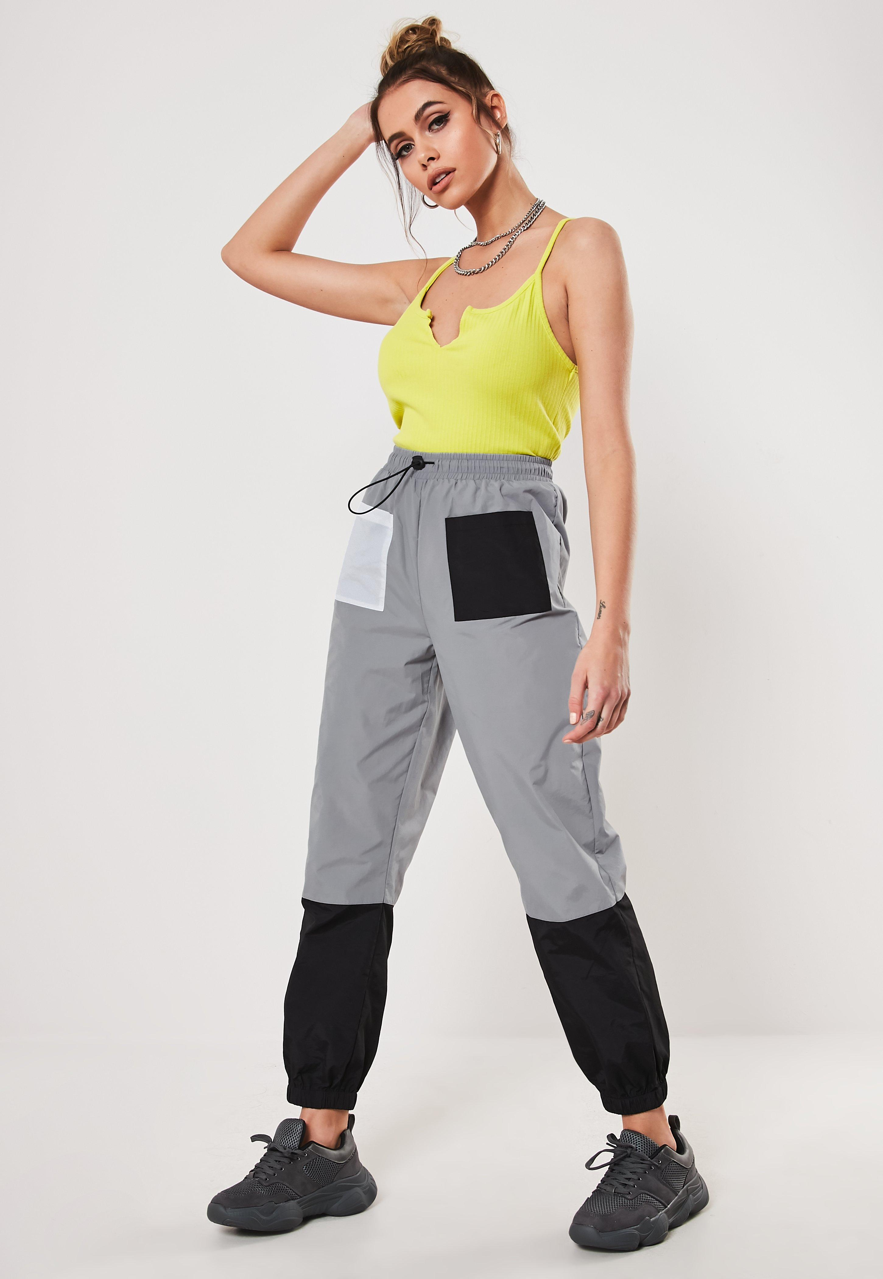 Gray Contrast Pocket Jogger by Missguided