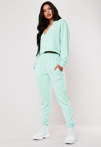 Mint Basic Joggers by Missguided
