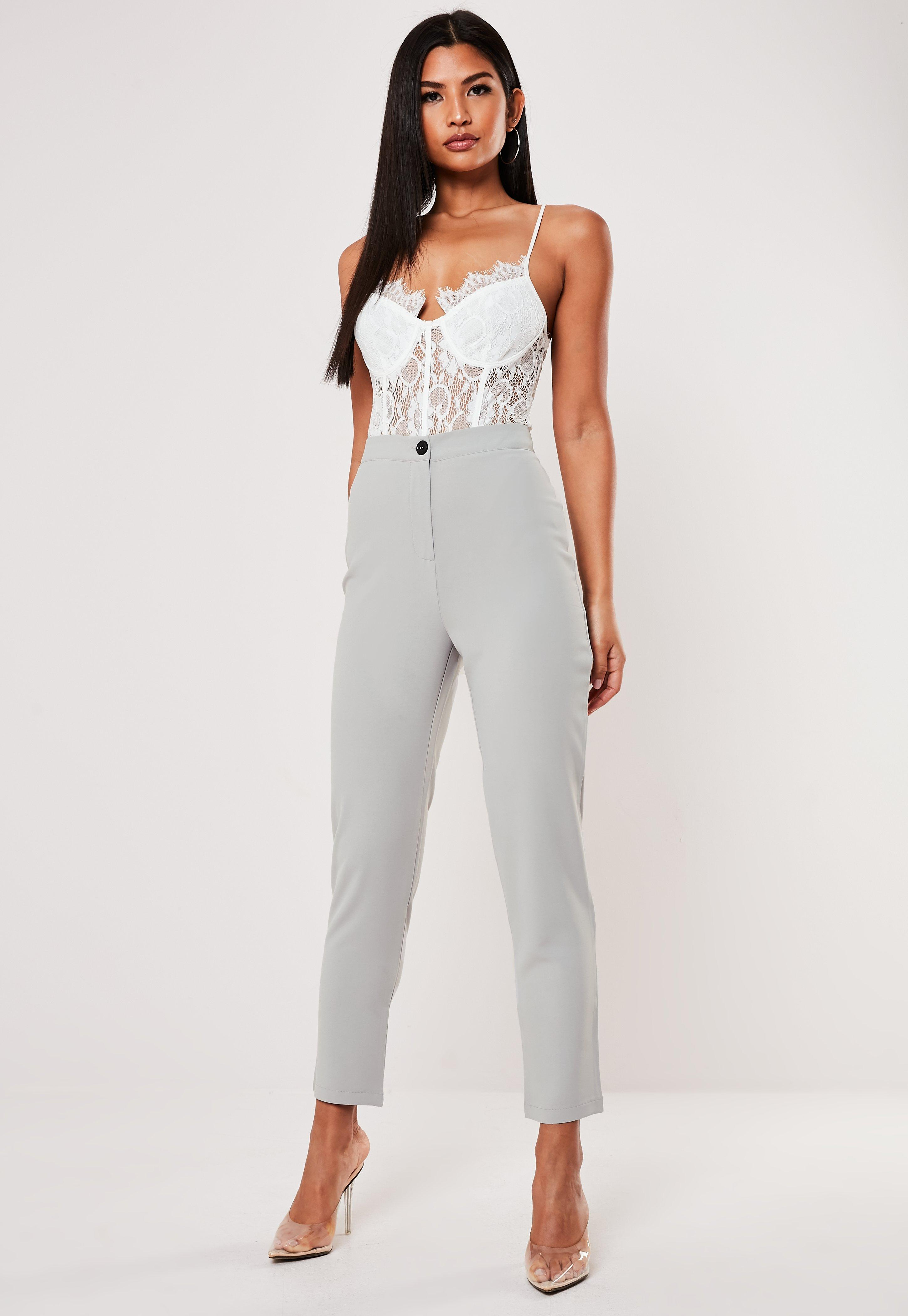 f50e17b2141fd Tapered Trousers & Womens Tailored Trousers - Missguided