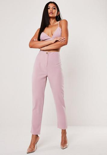 Lilac Cigarette Trousers by Missguided