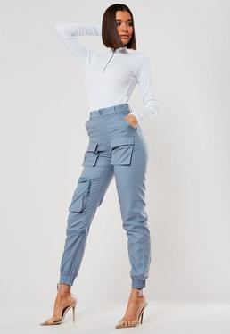 Серые карманные брюки-карго 3D