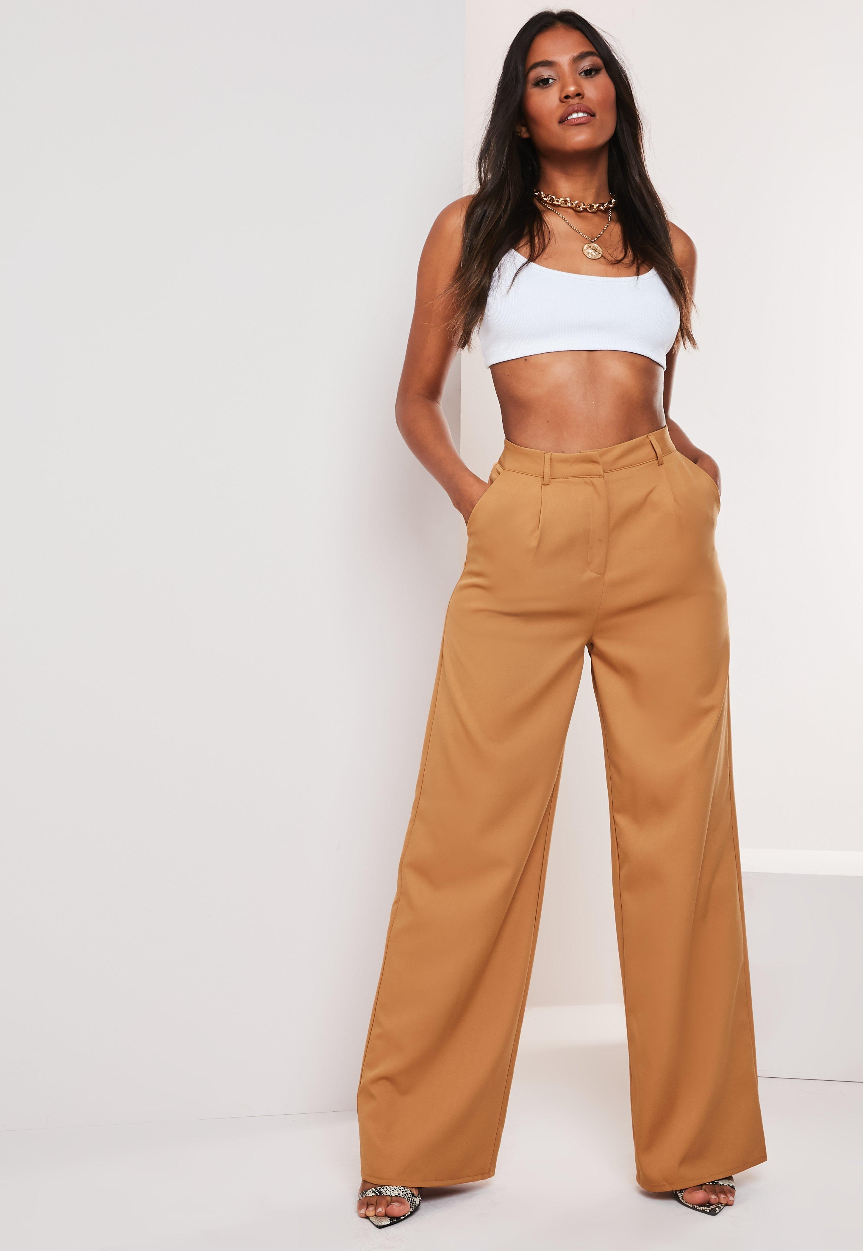 Camel Co Ord Wide Leg Pants by Missguided