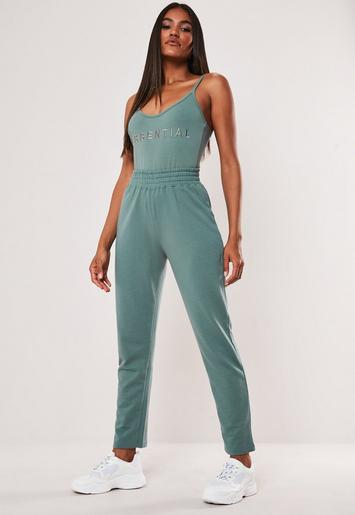 Teal Slim Joggers by Missguided