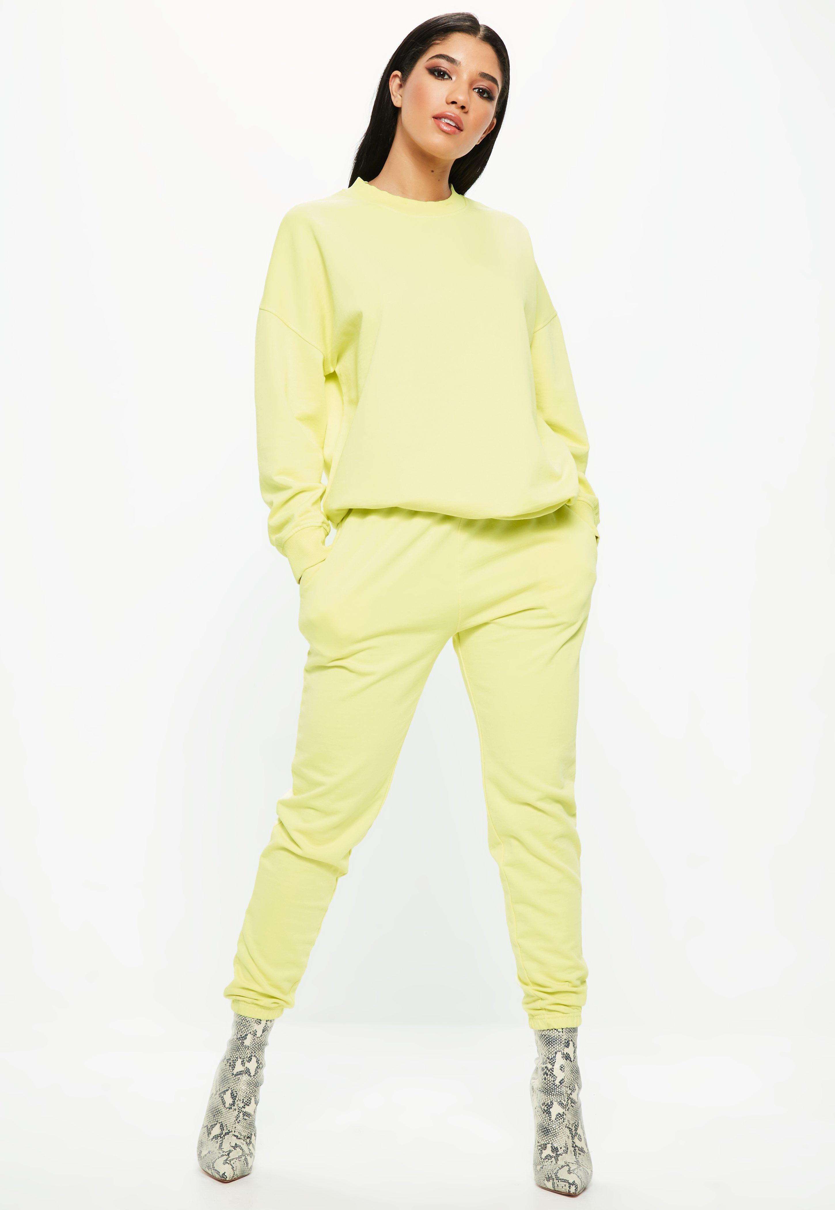 Missguided Lime super slim fit clean jogger