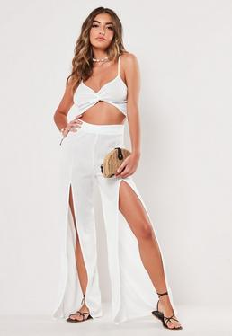 2a55b26ac White Wide Leg and Bralet Co Ord Set