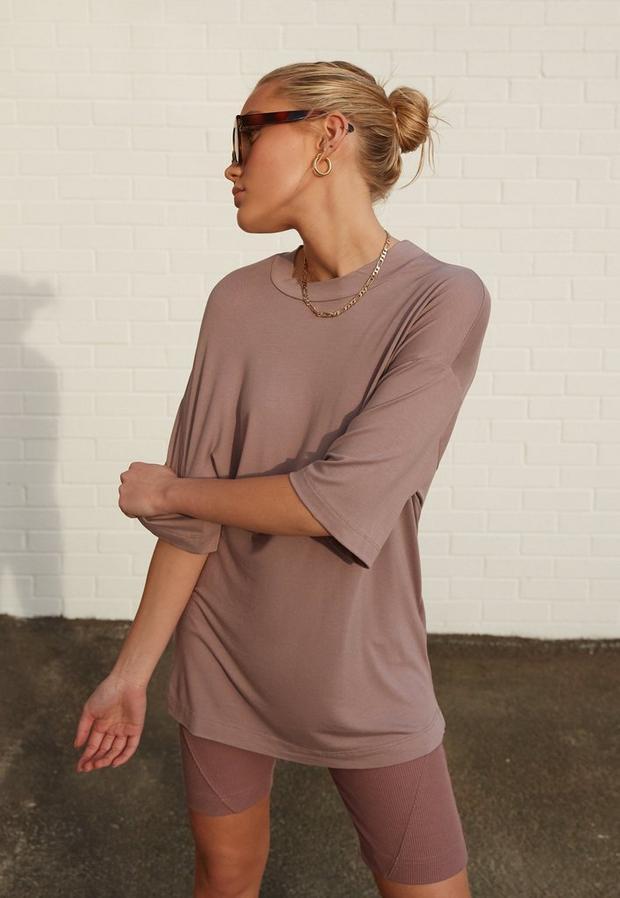 re_styld mauve basic t shirt