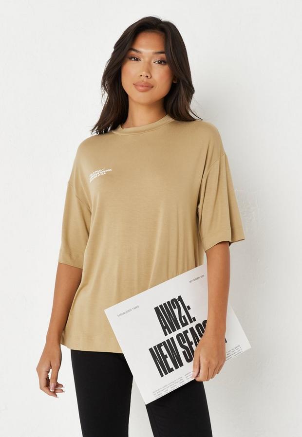 re_styld olive basic t shirt