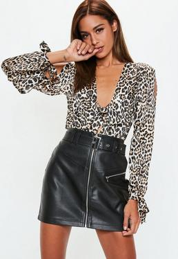4ccce62d5b Faux Leather Skirts | Leather Look & PU Skirts - Missguided