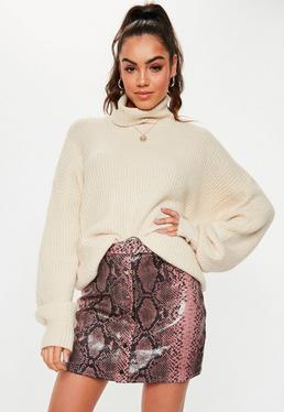 Jupe en cuir   Jupe simili cuir femme - Missguided d8de630bffa9